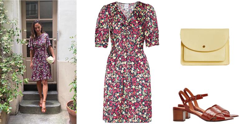 La robe fleurie de Clémence