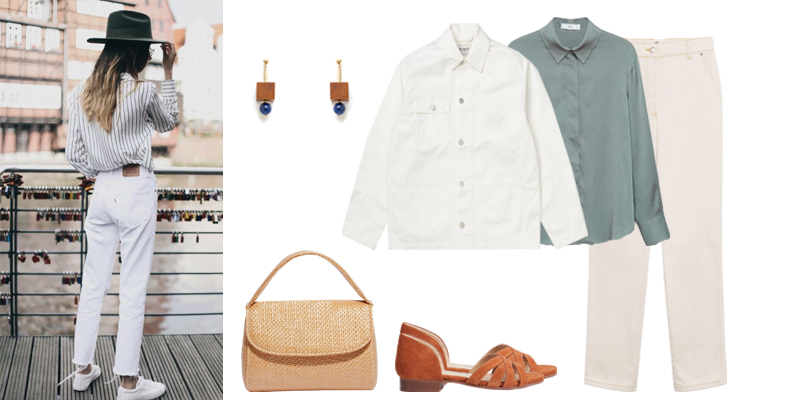 Le total look blanc