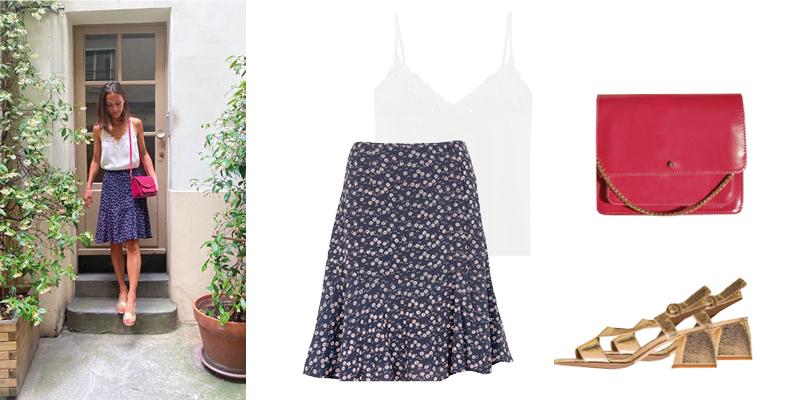 La jupe fleurie de Clémence